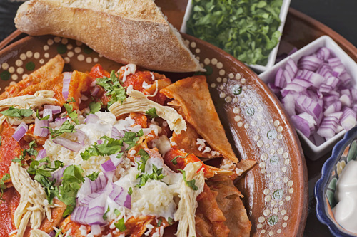 red chicken chilaquiles recipe cooking