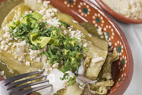 Authentic Recipe Of Green Enchiladas With Chicken
