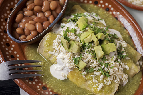 Green Enchiladas with Pork – Prepare Them!