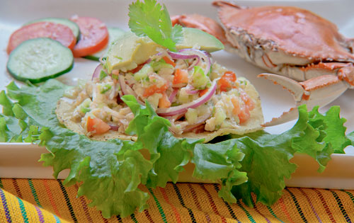 The Fresh Crab Tostada – Mexican Appetizer